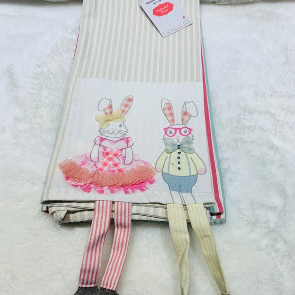 🐰🐣NWT Set of 2 Easter Kitchen towels